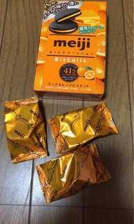 Meiji Rich Orange Biscuits  Expiration August 2019