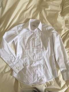 Work white long sleeve shirt
