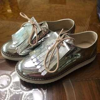 Zara Kids Silver Shoes with Fringe
