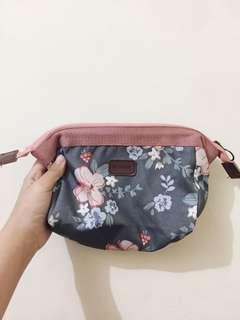 Floral waterproof makeup pouch / makeup bag / beauty case