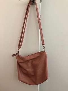 Simple Dusty Pink Sling Bag