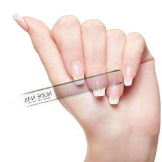 Nude Nail Glass Shiner Buffer Poles Kuku Kaca Alat Manicure Portable