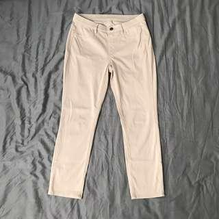 Uniqlo Cropped Legging Pants (Beige)