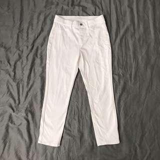 Uniqlo Cropped Legging Pants (White)