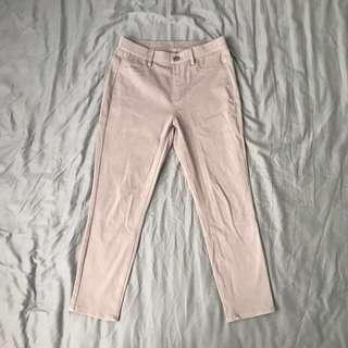 Uniqlo Cropped Leggings Pants (Khaki)