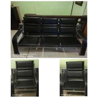 Sofa with metal frame