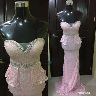 Pink Long Gown **FOR RENT**