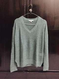 Uniqlo Green Knit Sweater - Sweater Rajut