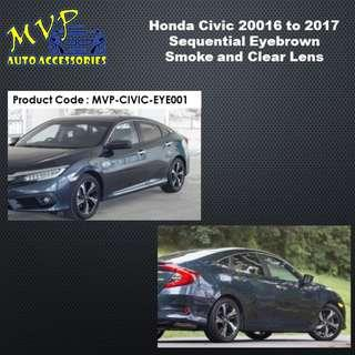 Honda Civic 2016 to 2017 Model LED Sequential Headlight Eyebrown ( Pre-Order )