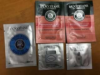 Loccitane sample gift set shampoo cream serum $110一套16件 總值$170