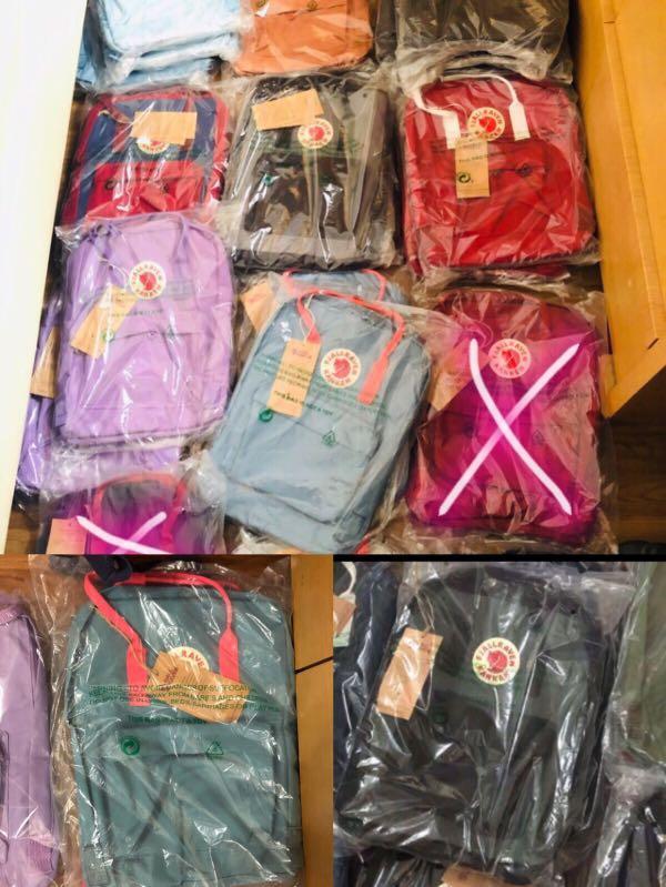 $100 for 5 pcs instock kanken school bag