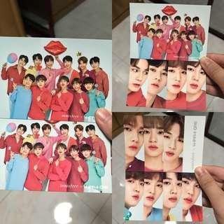 Wanna One x Innisfree Official Cards