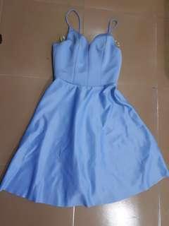 Winter Blue Cocktail Dress
