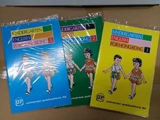 香港70年代幼稚園課本共3册