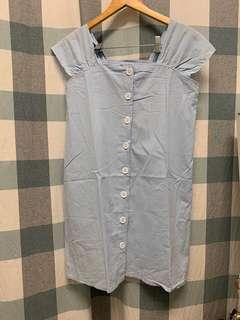(NEW) Button Down Baby Blue Dress
