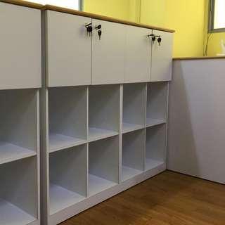 Shelf with Cabinet locks 1200L x 1050H x 350D mm