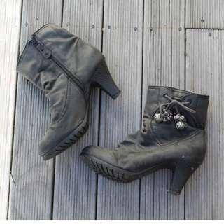 Grey Women's Ankle Boots