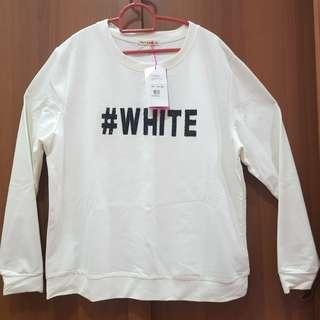 NEW Brands Outlet Long Sleeve White Top Fashion