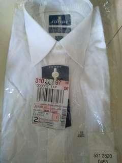 Men White shirt Short sleeves Regular Fit