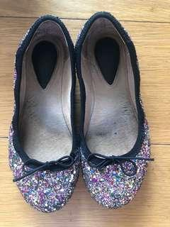Bloch girls glitter shoes ballerinas