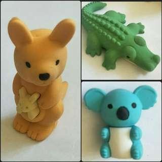 Australian Animal Puzzle Rubbers