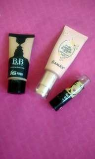 2 BB Creams and lipstick
