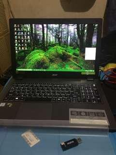 Acer V15 icore5 NVIDIA GTX950M DDR4 2.3ghz up to 3.2