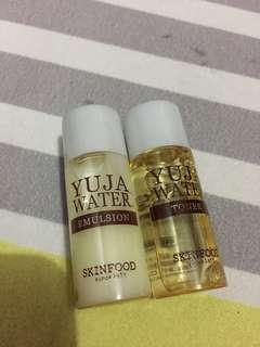 Skinfood yuja water emulsion and toner