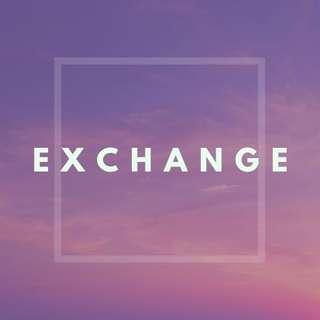 徵exchange (價錢相近便可)