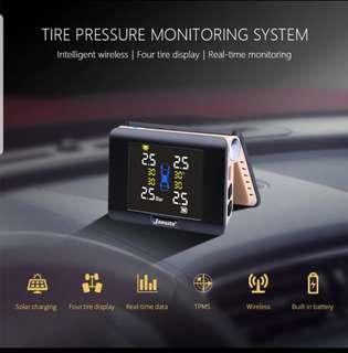 Pre-order. No stock. TPMS Tyre pressure monitoring system using solar or usb