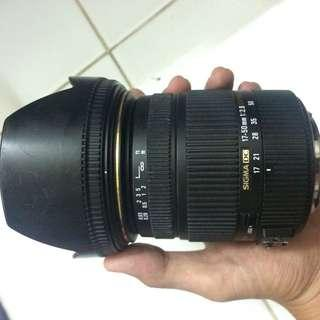 Sigma 17-50mm f2.8 Canon Mount