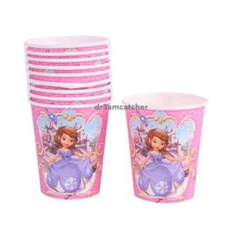 Sofia the First paper cups x 10