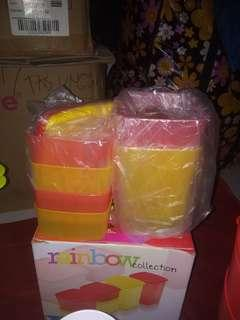 Tupperware rainbow collection