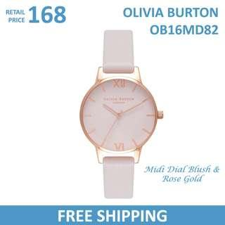 Olivia Burton Ladies Watch Midi Dial Blush & Rose Gold OB16MD82