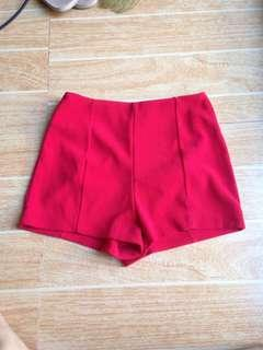 F21 HE red shorts