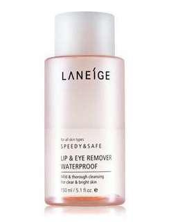 Brand new Laneige eye and lip make up remover