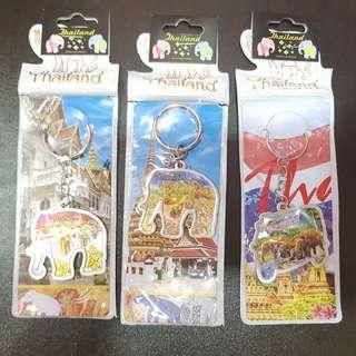 3pcs NEW Thailand Bangkok Keychains Souvenir