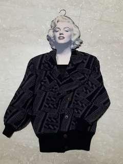 🚚 [二手少穿] 厚磅數 復古騎士風 針織 毛衣 外套