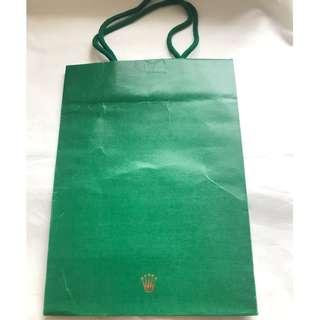 ROLEX small size shopping bag 勞力士購物紙袋