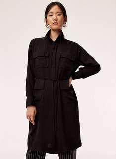 BNWT 100% silk aritzia babaton howitt dress/trench jacket