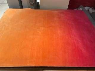 Esprit sunrise rug orange pink karpet