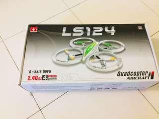 Lian Sheng Drone LS-124 2.4GHz 4-Channel 6-Axis Remote Control RC Quadcopter Aircraft (White)