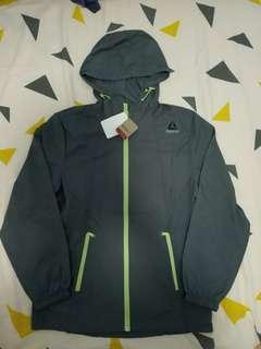 全新Reebok windbreaker Size M 風褸 jacket 外套 灰色 grey