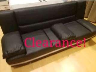 Clearance! Black PVC Sofabed Living Room Furniture