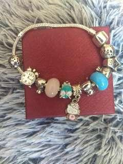Pandora Inspired kitty bracelet