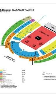 Ed Sheeran Cat 1 - 4 tickets - price as is