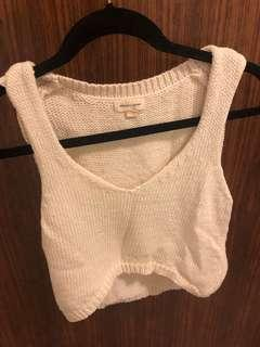 UO white knit top