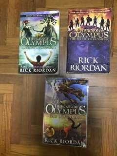 Percy Jackson Heroes Of Olympus The Lost Hero, Blood of Olympus, Son of Neptune