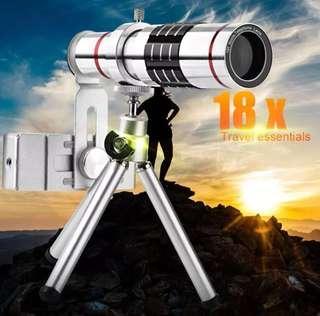 Phone Camera Kit Universal 18X Optical Zoom Telescope Tripod