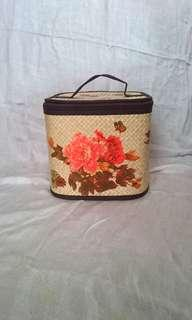 Tas Anyaman Decoupage Bunga Flower Handmade
